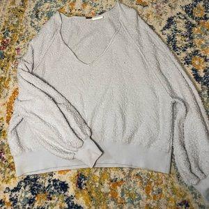 Light blue popcorn sweater - free people